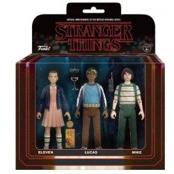 STRANGER THINGS - Pack 3 ReAction Figures - Set 1 - 14cm 160717  Stranger Things