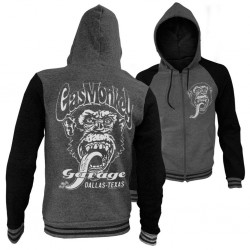 GAS MONKEY - Dallas Texas Varsity PREMIUM Zip Hoodies (M)