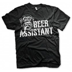 GAS MONKEY - T-Shirt Beer Assistant - Black (S) 160675  T-Shirts Gas Monkey