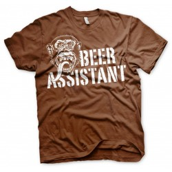 GAS MONKEY - T-Shirt Beer Assistant - Brown (XXXL) 160623  T-Shirts Gas Monkey