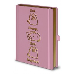 PUSHEEN - Notebook A5 Premium - Eat Sleep Eat Repeat