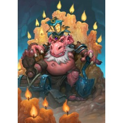 HEARTHSTONE - Magnetische Metalen Poster 31x21 - King Togwaggle