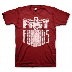FAST AND FURIOUS - T-Shirt Est 2007 - Tango rood (L)