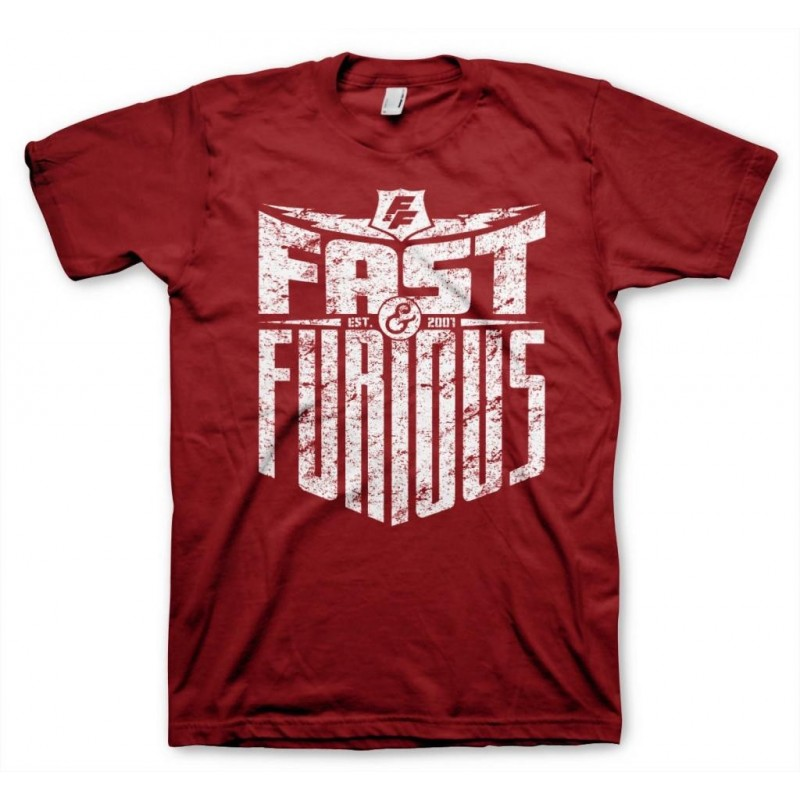 FAST AND FURIOUS - T-Shirt Est 2007 - Tango rood (S)
