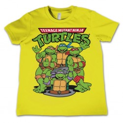 TMNT - T-Shirt KIDS TMNT Group - Yellow (10 Years) 159662  T-Shirts Kinderen