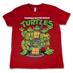 TMNT - T-Shirt KIDS TMNT Group - Red (8 Years) 159656  T-Shirts Kinderen