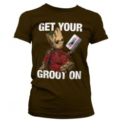 GUARDIANS OF THE GALAXY - T-Shirt Get Your Groot On - GIRL (M) 159580  T-Shirts