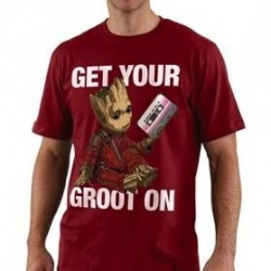 GUARDIANS OF THE GALAXY - T-Shirt Get Your Groot On - Tango rood (XL)