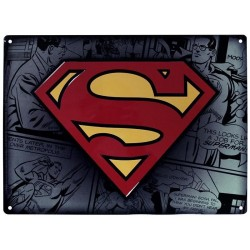 DC COMICS - Plaque Metal 28 X 38 - Superman 159544  Metalen Wand Borden