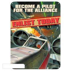 STAR WARS - Plaque Metal 28 X 38 - Become a Pilot 159537  Metalen Wand Borden