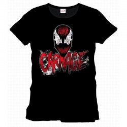 SPIDERMAN - T-Shirt Carnage Types and Face (S) 159456  T-Shirts Spiderman