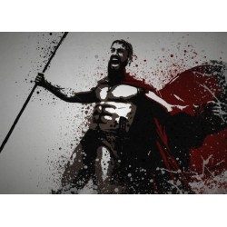 PC SPLATTER - Magnetic Metal Poster 45X32 - This is SPARTA 159089  Magnetische Posters
