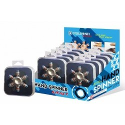 STEELSPINNER - HAND FINGER - Display MARINER Metal 12pces 159068  Spinners