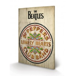 THE BEATLES - Printing on wood 40X59 - Sgt Peppers 159063  Houten Canvas