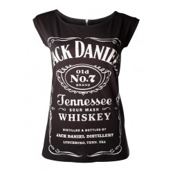 JACK DANIEL'S - T-Shirt GIRL'S with Zipper on Back (M) 158886  T-Shirts Vrouwen