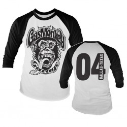 GAS MONKEY - Baseball Long Sleeve T-Shirt - Garage 4 (XXL) 158874  Long Sleeve T-Shirts
