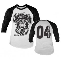GAS MONKEY - Baseball Long Sleeve T-Shirt - Garage 4 (M) 158871  Long Sleeve T-Shirts