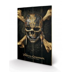 PIRATES OF THE CARIBBEAN - Wood Print 40X59 - Skull