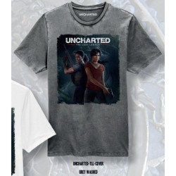 UNCHARTED - T-Shirt The Lost Legacy Cover - grijs (S)