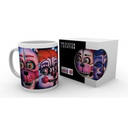 FIVE NIGHTS AT FREDDY S - Beker - 300 ml - Sister Location Faces 158047  Drinkbekers - Mugs
