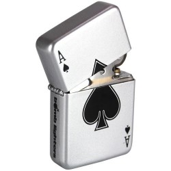 LIGHTER - Ace of Spades Playing Card 'TIN BOX' 157643  Aanstekers