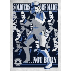 GALACTIC PROPAGANDA - Magnetic Metal Poster 45x32 - Soldier are Made 157568  Magnetische Posters