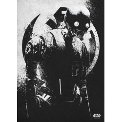 ROGUE ONE MORALITY - Magnetic Metal Poster 45x32 - K-2SO 157508  Magnetische Posters