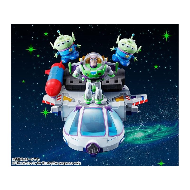 TOY STORY - Diecast Chogokin Buzz Space Ranger PACK 5 Figures - 20cm 157438 Figurines