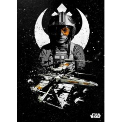 STAR WARS PILOTS - Magnetic Metal Poster 45x32 - X-Wing