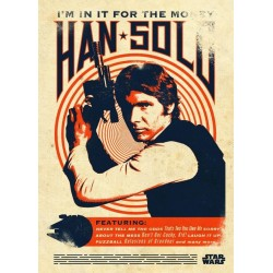 STAR WARS LEGENDS - Magnetic Metal Poster 45x32 - Han Solo 157238  Star Wars