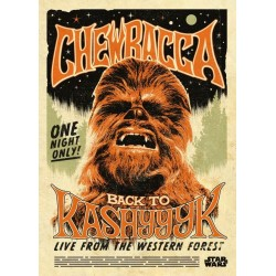 STAR WARS LEGENDS - Magnetic Metal Poster 45x32 - Chewbacca 157237  Star Wars