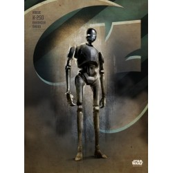 ROGUE ONE KEY FORCES - Magnetic Metal Poster 45x32 - K-2SO 157176  Magnetische Posters