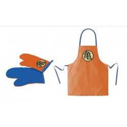 DRAGON BALL - Apron and Oven Mitt - Symbol (PLASTIC BOX)