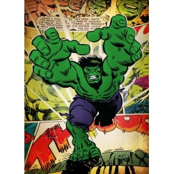 MARVEL SILVER AGE - Magnetic Metal Poster 45x32 - Hulk 157145  Magnetische Posters
