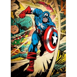 MARVEL SILVER AGE - Magnetic Metal Poster 45x32 - Captain America 157140  Magnetische Posters