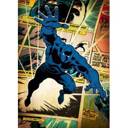 MARVEL SILVER AGE - Magnetic Metal Poster 45x32 - Black Panther 157138  Magnetische Metalen Posters