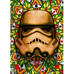 STAR WARS MASKED TROOPER - Magnetic Metal Poster 45x32 - Stained