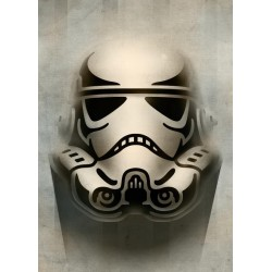 STAR WARS MASKED TROOPER - Magnetic Metal Poster 45x32 - Animated 157108  Star Wars