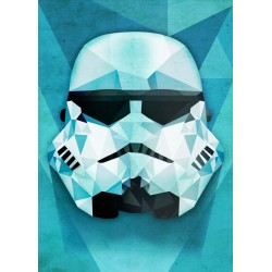 STAR WARS MASKED TROOPER - Magnetische Metalen Poster 45x32 - Polygonal