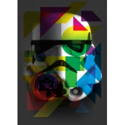 STAR WARS MASKED TROOPER - Magnetische Metalen Poster 45x32 - Geometric