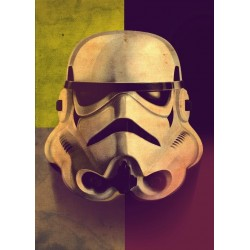 STAR WARS MASKED TROOPER - Magnetic Metal Poster 45x32 - Sepia