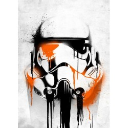 STAR WARS MASKED TROOPER - Magnetic Metal Poster 45x32 - Banksy
