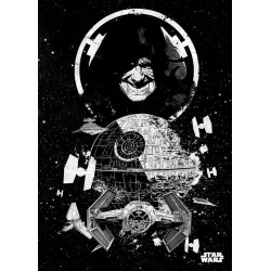 STAR WARS PILOTS - Magnetische Metalen Poster 45x32 - Death Star