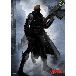 MARVEL DARK EDITION - Magnetische Metalen Poster 45x32 - Nick Fury
