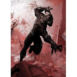 MARVEL DARK EDITION - Magnetic Metal Poster 45x32 - Black Panther