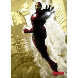 MARVEL DARK EDITION - Magnetic Metal Poster 45x32 - Iron Man