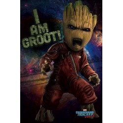 GUARDIANS OF THE GALAXY 2 - Poster 61X91 - Angry Groot 156910  Posters
