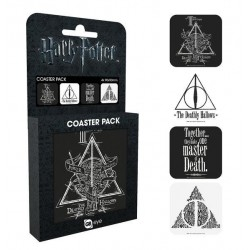 HARRY POTTER - Official Coaster Pack - Deathly Hallows