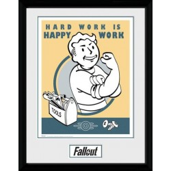 FALLOUT 4 - Collector Print 30X40 - Hard Work 156775  Collector Print Canvas