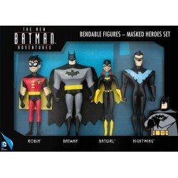 BATMAN - Bendable Figures - Masked Heroes Set 4 Pces